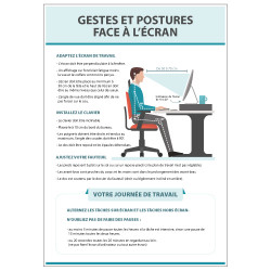 Panneau Gestes et postures face a l'ecran (E0647)