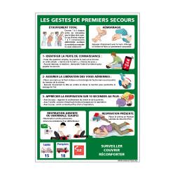 PANNEAU GESTES DE PREMIERS...