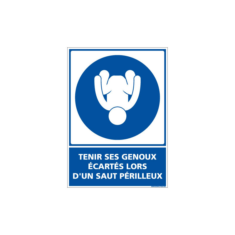 PANNEAU TENIR SES GENOUX ECARTES LORS D'UN SAUT PERILLEUX (E0649)