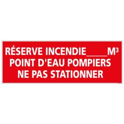 RESERVE INCENDIE POMPIERS NE PAS STATIONNER (A0413)