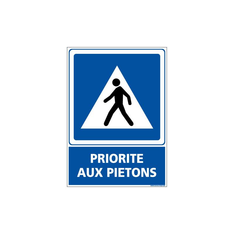 PANNEAU PRIORITE AUX PIETONS (E0654)