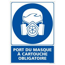 PANNEAU PORT DU MASQUE A CARTOUCHE OBLIGATOIRE (E0655)