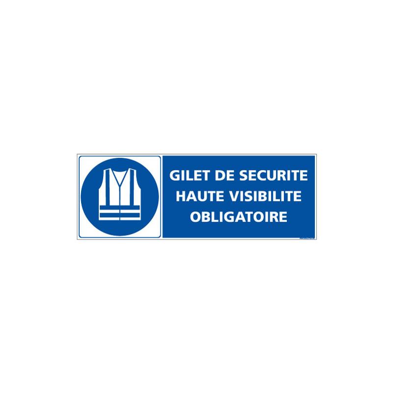 PANNEAU GILET DE SECURITE OBLIGATOIRE (E0656)
