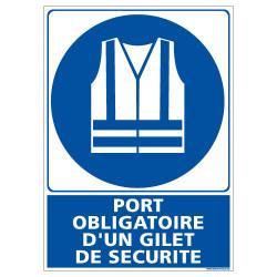 PANNEAU PORT OBLIGATOIRE D'UN GILET DE SECURITE (E0657)