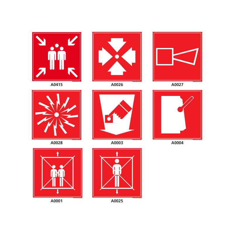 Panneau et Pictogramme de securite d'incendie
