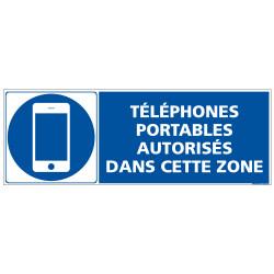 PANNEAU TELEPHONES PORTABLES AUTORISES DANS CETTE ZONE (E0679)