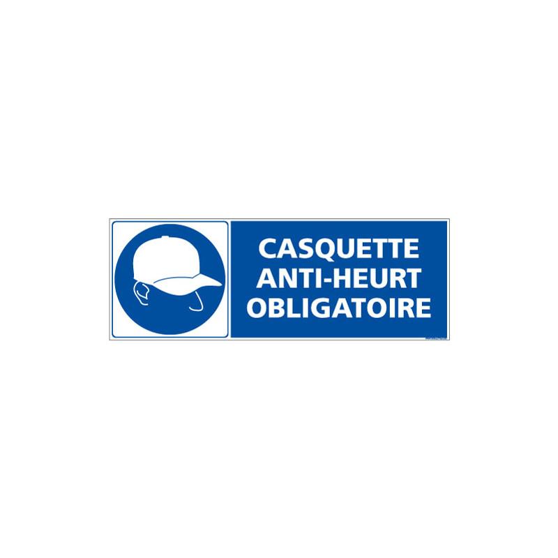 PANNEAU CASQUETTE ANTI-HEURT OBLIGATOIRE (E0699)