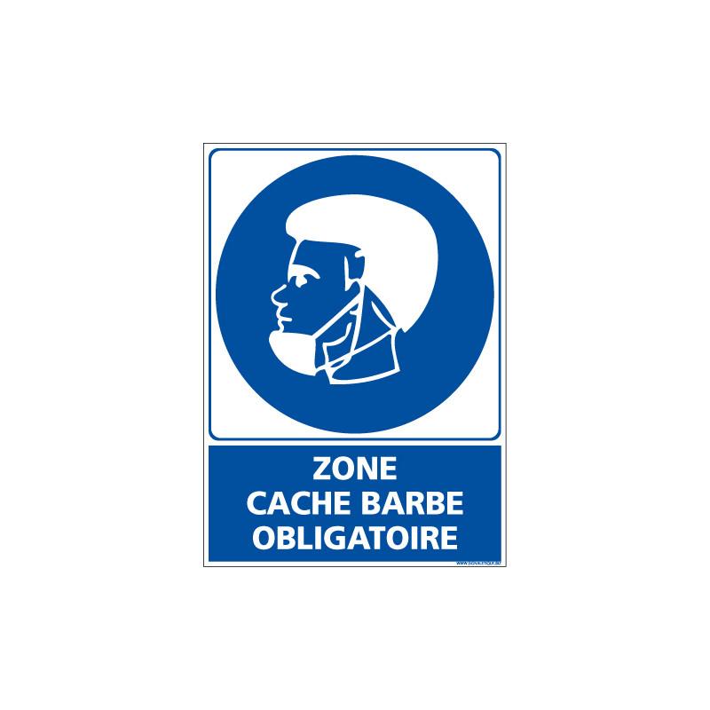 PANNEAU ZONE CACHE BARBE OBLIGATOIRE (E0701)