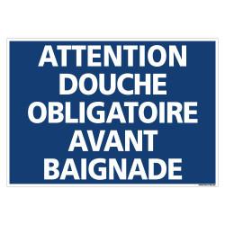 PANNEAU ATTENTION DOUCHE OBLIGATOIRE (H0343)