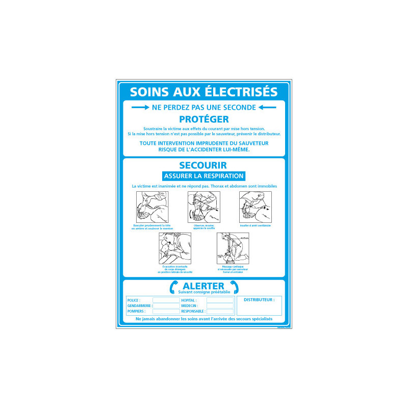 PANNEAU INFORMATIFS SUR LES SOINS AUX ELECTRISES (A0319_BLEU)