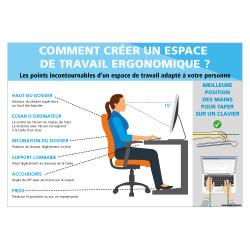 PANNEAU COMMENT CREER UN ESPACE DE TRAVAIL ERGONOMIQUE (A0651)