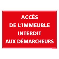 PANNEAU ACCES DE L'IMMEUBLE INTERDIT AUX DEMARCHEURS (D1106)
