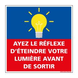 PANNEAU ETEINDRE LA LUMIERE EN SORTANT (E0676)