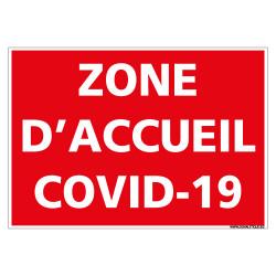 PANNEAU CORONAVIRUS - ZONE D'ACCUEIL COVID-19 (E0704)
