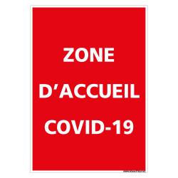PANNEAU CORONAVIRUS - ZONE D'ACCUEIL COVID-19 (E0705)
