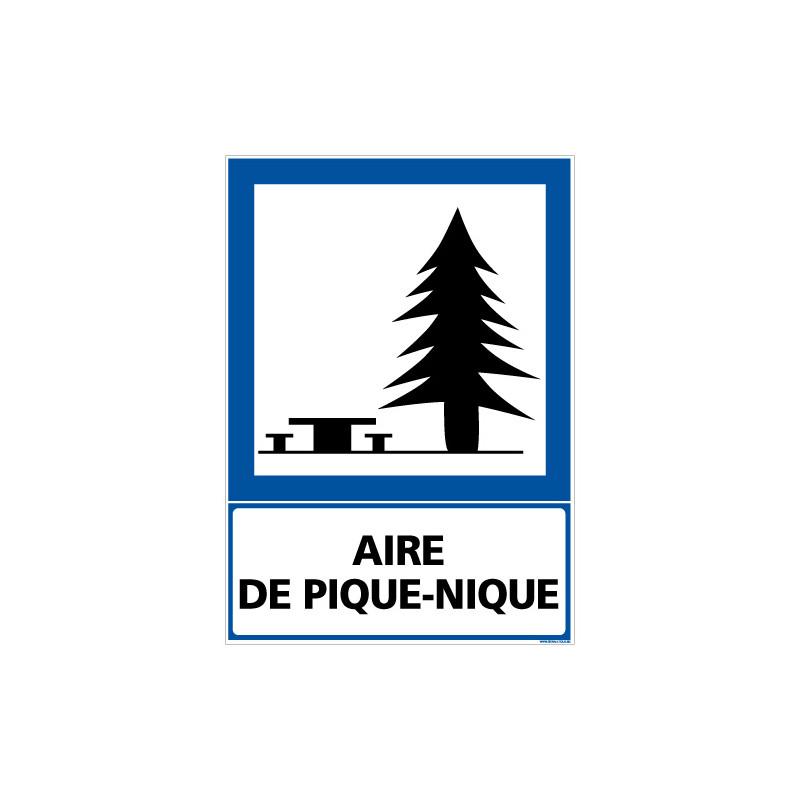 PANNEAU INFORMATION AIRE DE PIQUE-NIQUE (F0218)