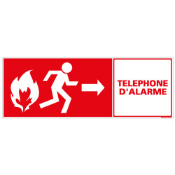 PANNEAU TELEPHONE D'ALARME (A0443)