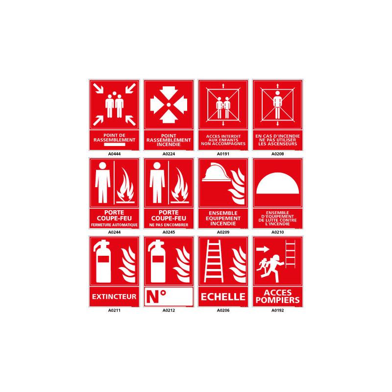 Panneau de securite incendie