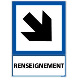 PANNEAU INFORMATION RENSEIGNEMENT FLECHE (BAS DROITE) (F0285)