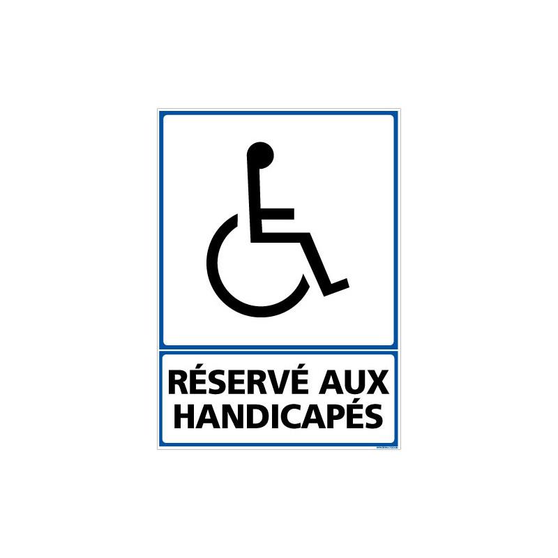 PANNEAU INFORMATION RESERVE AUX HANDICAPES (F0294)