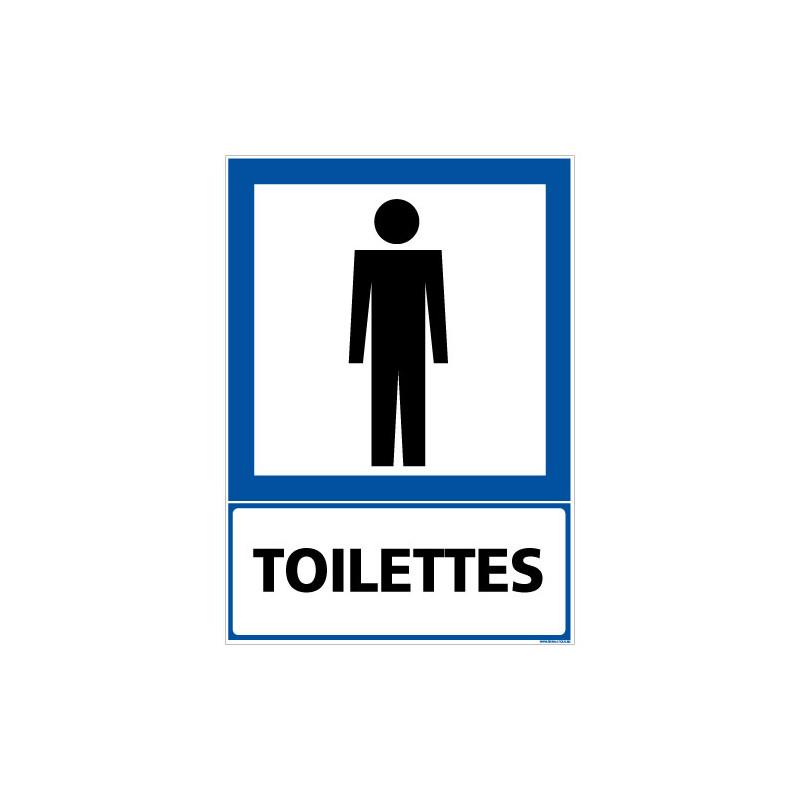PANNEAU INFORMATION TOILETTES HOMMES (F0324)