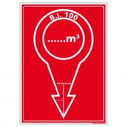 Panneau de Signalisation Incendie BORNE INCENDIE (A0459)