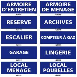 Panneau d'information (garage, archives)
