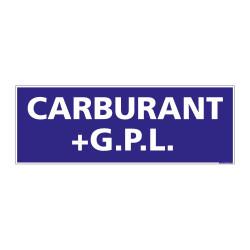 PANNEAU SIGNALISATION INFORMATION CARBURANT+G.P.L.