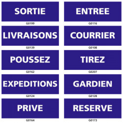 Panneau d'INFORMATION (sortie, tirez, gardien)