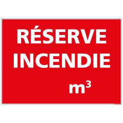 PANNEAU RESERVE D'EAU INCENDIE (A0493) A PERSONNALISER