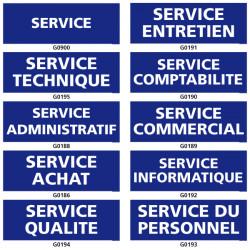 Panneau d'information et de service