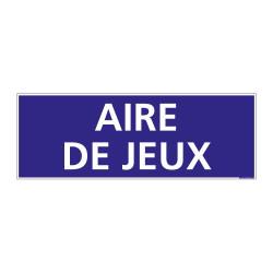 PANNEAU SIGNALISATION INFORMATION AIRE DE JEUX (G0934)
