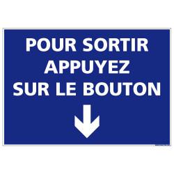 Panneau Pour sortir Appuyez sur le bouton (G1256)