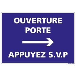 Panneau Ouverture porte Appuyez (G1257)