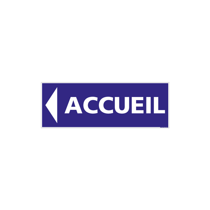 Panneau signalisation Accueil (G1278)