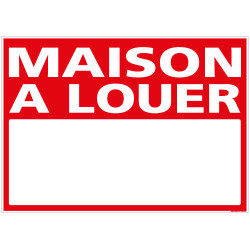 PANNEAU MAISON A LOUER AKYLUX 3,5mm - 700 x 500mm (G1315)