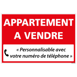 PANNEAU IMMOBILIER APPARTEMENT A VENDRE A PERSONNALISER AKYLUX 3,5mm - 600x400mm (G1325_PERSO)