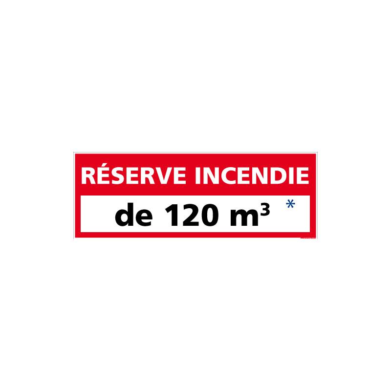 Panneau reserve incendie personnalisable (A0529-PERSO)