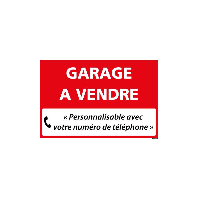 PANNEAU IMMOBILIER GARAGE A VENDRE A PERSONNALISER AKYLUX 3,5mm - 600x400mm (G1335_PERSO)