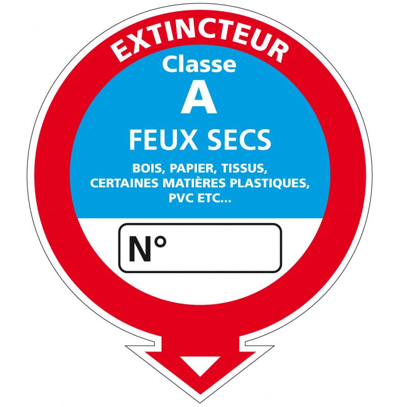 Adesif Extincteur classe A (A0533)