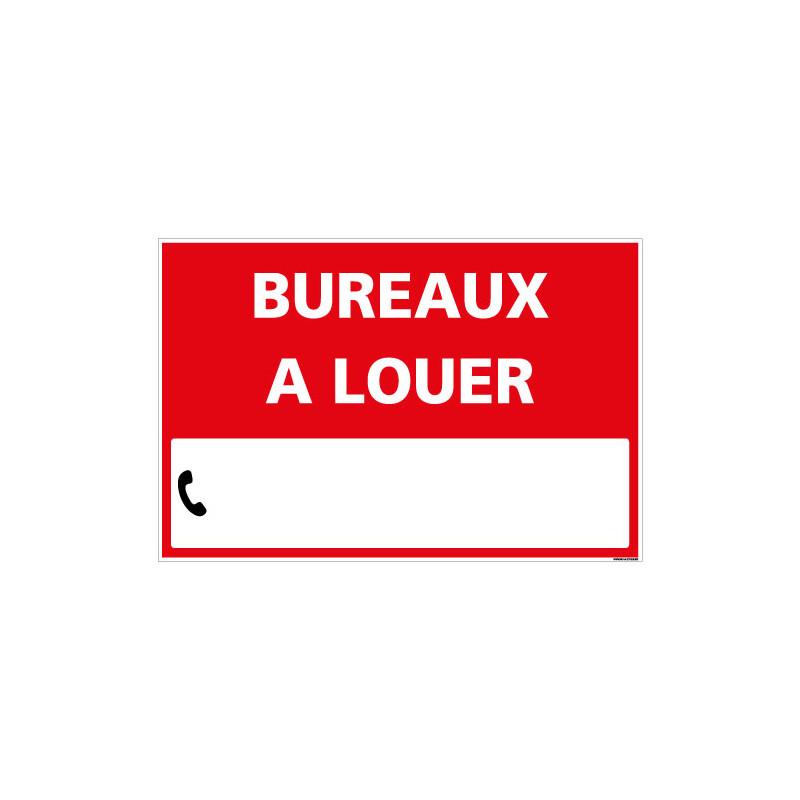 PANNEAU BUREAUX A LOUER AKYLUX 3,5mm - 600x400mm - LIVRE AVEC UNE PLANCHE DE CHIFFRES (G1338)