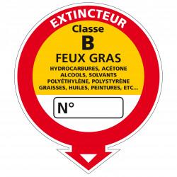 Adesif Extincteur classe B (A0534)