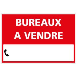 PANNEAU BUREAUX A VENDRE AKYLUX 3,5mm - 600x400mm - LIVRE AVEC UNE PLANCHE DE CHIFFRES (G1339)