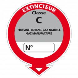 Adhesif Extincteur classe C (A0535)