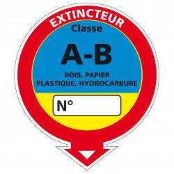 Adhesif Extincteur classe AB en 250 x 215 mm (A0536)