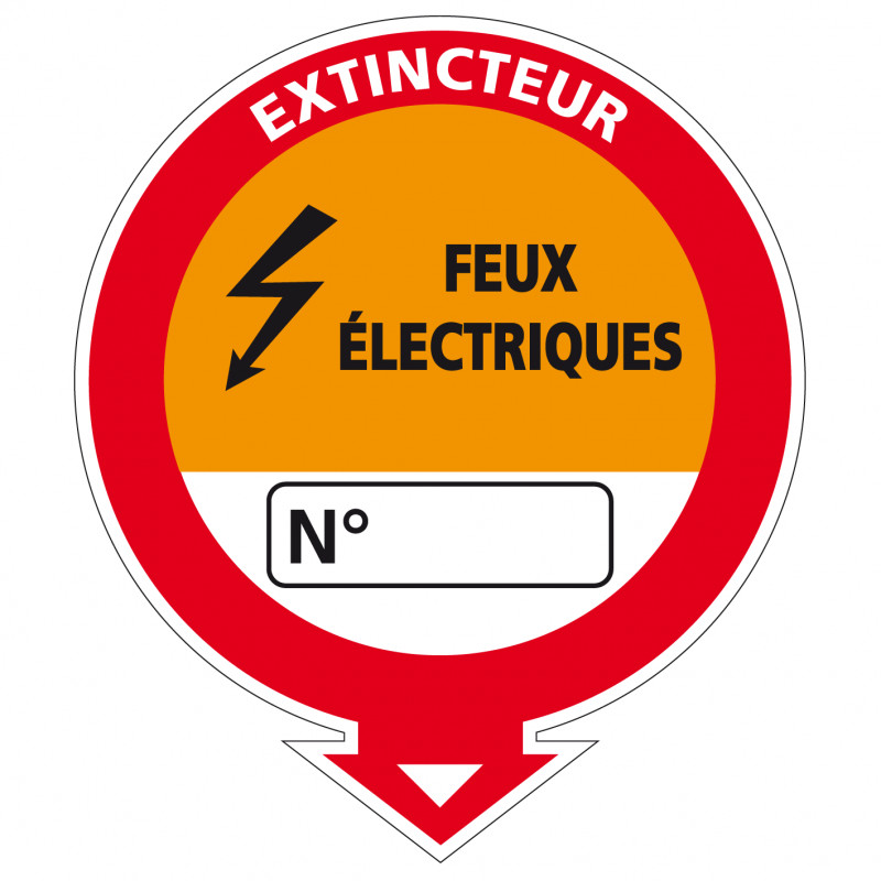 """Adhesif Extincteur classe """"Electrique"""" (A0537)"""