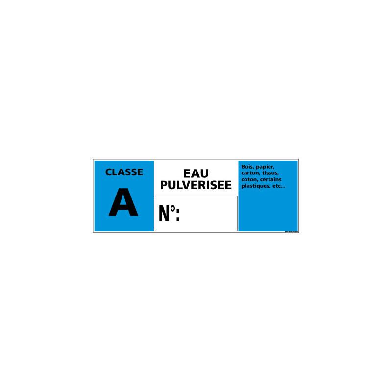 Panneau Signalisation Incendie CLASSE A - EAU PULVERISEE (A0539)
