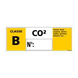 Panneau Signalisation Incendie CLASSE B - C02 (A0540)