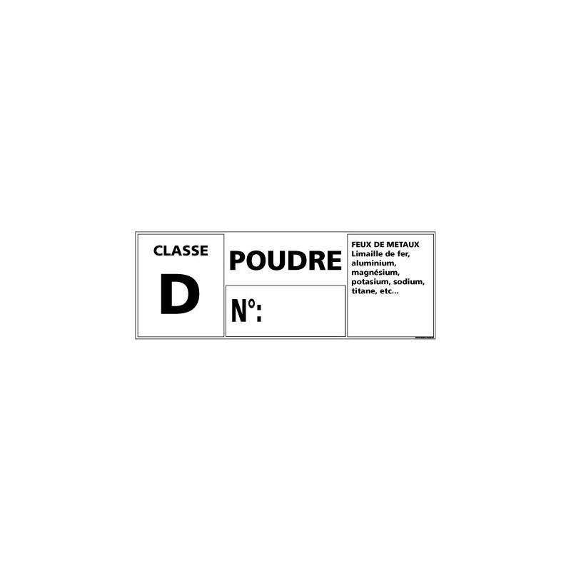 Panneau Signalisation Incendie CLASSE D - POUDRE (A0542)