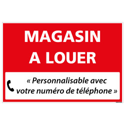 PANNEAU IMMOBILIER MAGASIN A LOUER A PERSONNALISER AKYLUX 3,5mm - 600x400mm (G1350_PERSO)